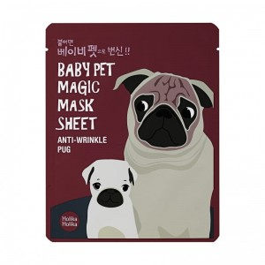 Maska tkaninowa - Baby Pet Magic Mask Sheet (Pug) - HOLIKA HOLIKA